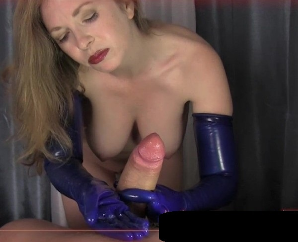 Mistress T -  Big Dick Glove Jerking