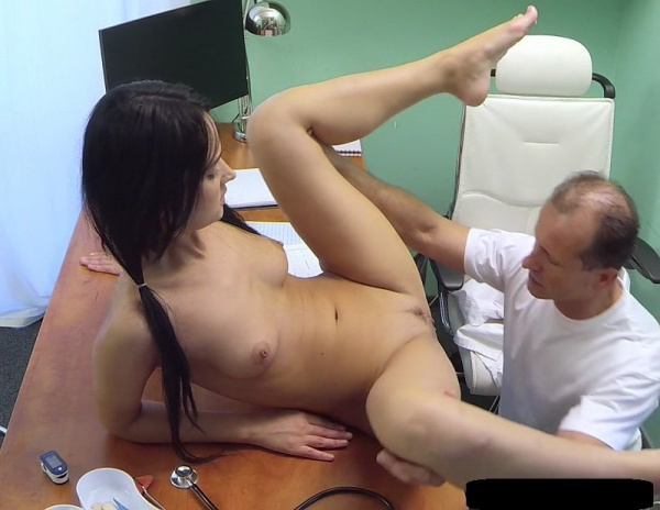 Angie Moon -  Teen Brunette Examination By A Gynecologist