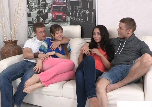 Aria and Taya -  Russian Student Swinger Sex