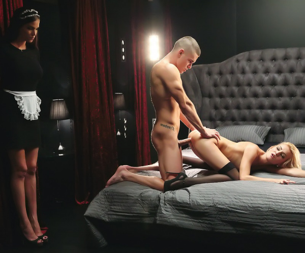 Katy Rose -  Maid Watches Sex