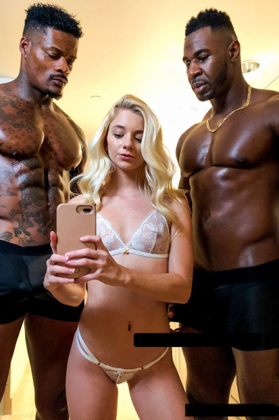 Riley Star -  Petitte Teen First Time With Two BBC